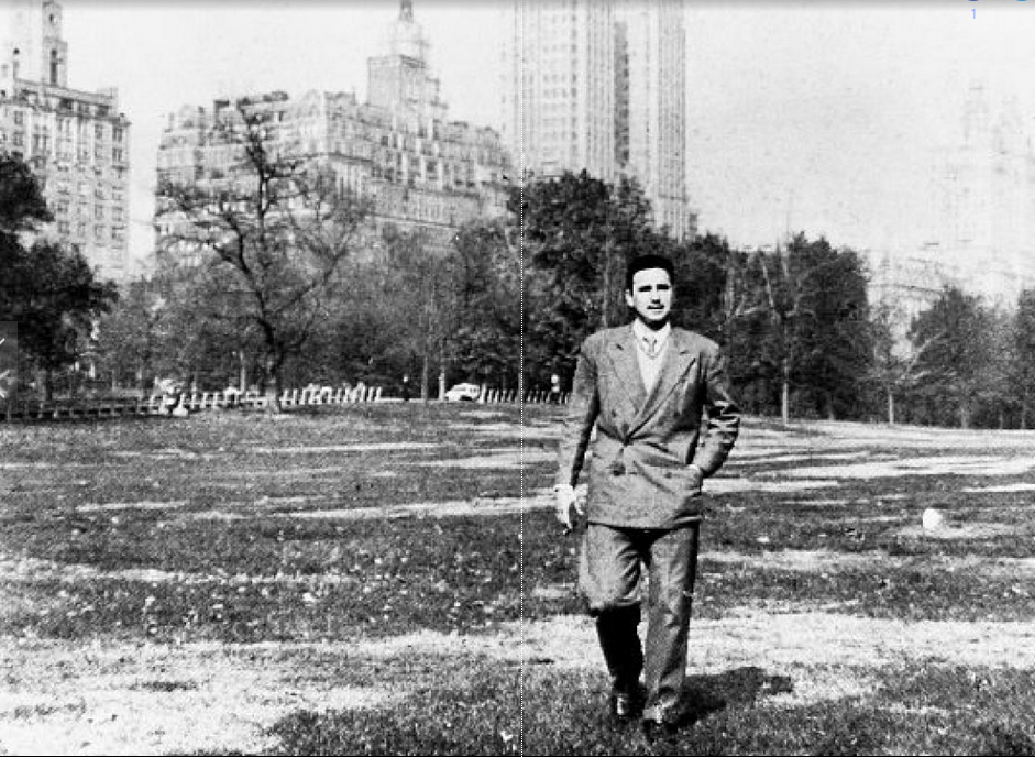 Long before he would become a household name in New York and the rest of the world, Fidel Castro strolls through Central Park in 1955.